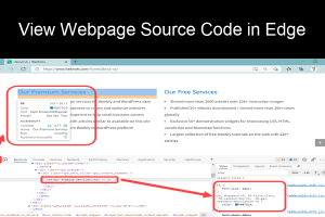 View Webpage Source Code in Edge