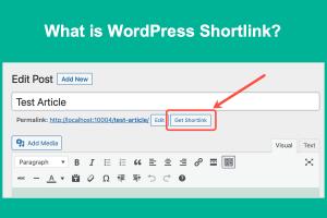 What is WordPress Shortlink?