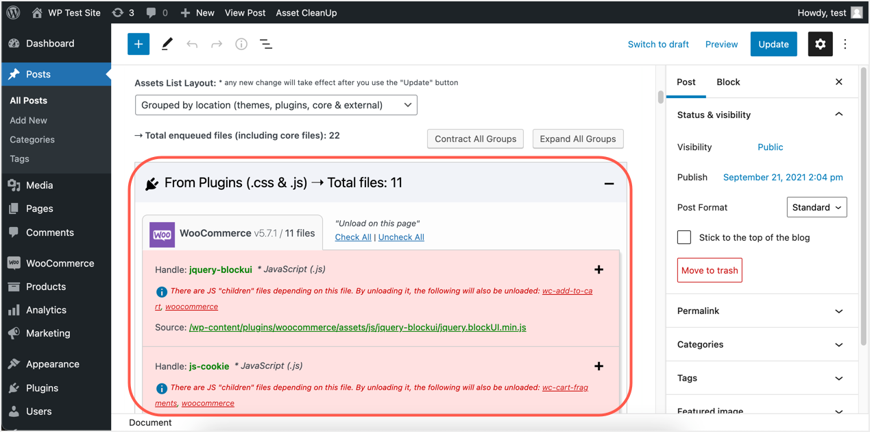 WooCommerce Resources Shown in Meta Box