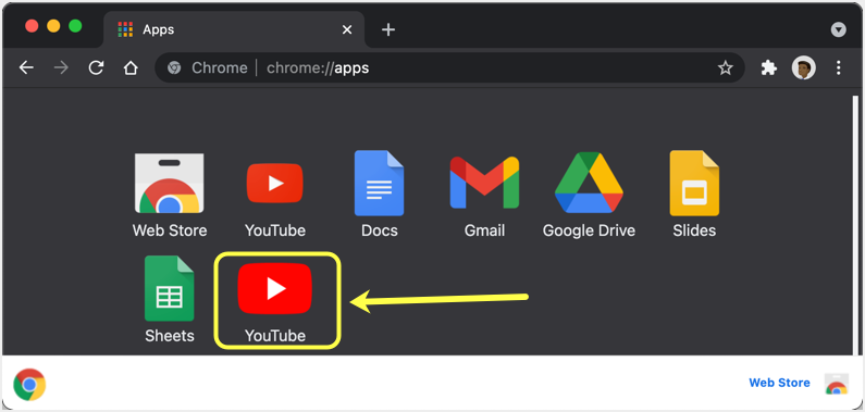 YouTube in Browser Apps