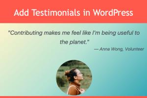 Add Testimonials in WordPress
