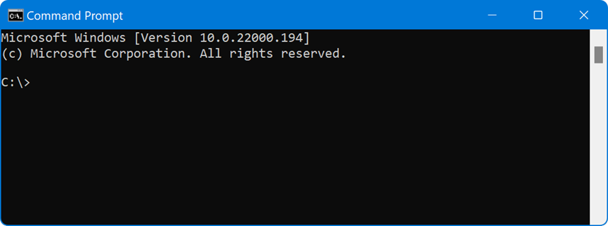 Command Prompt in Windows 11