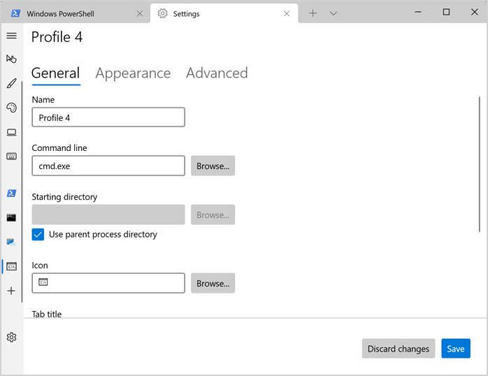 Create New Profile in Terminal