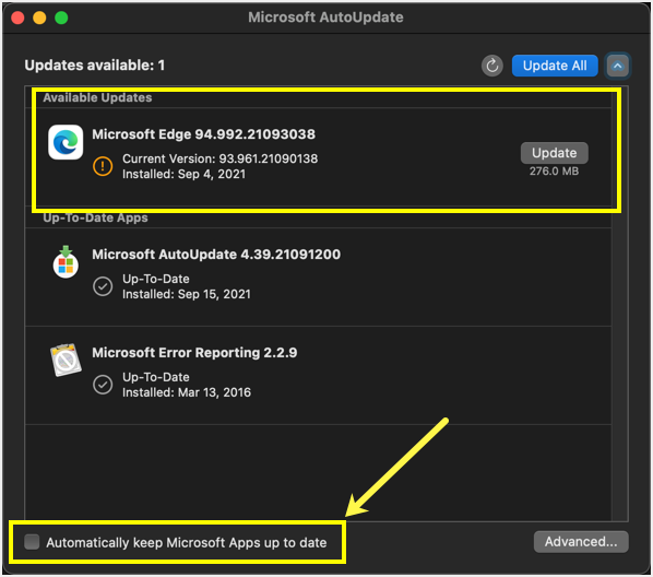 Disable Edge Auto Update in Mac