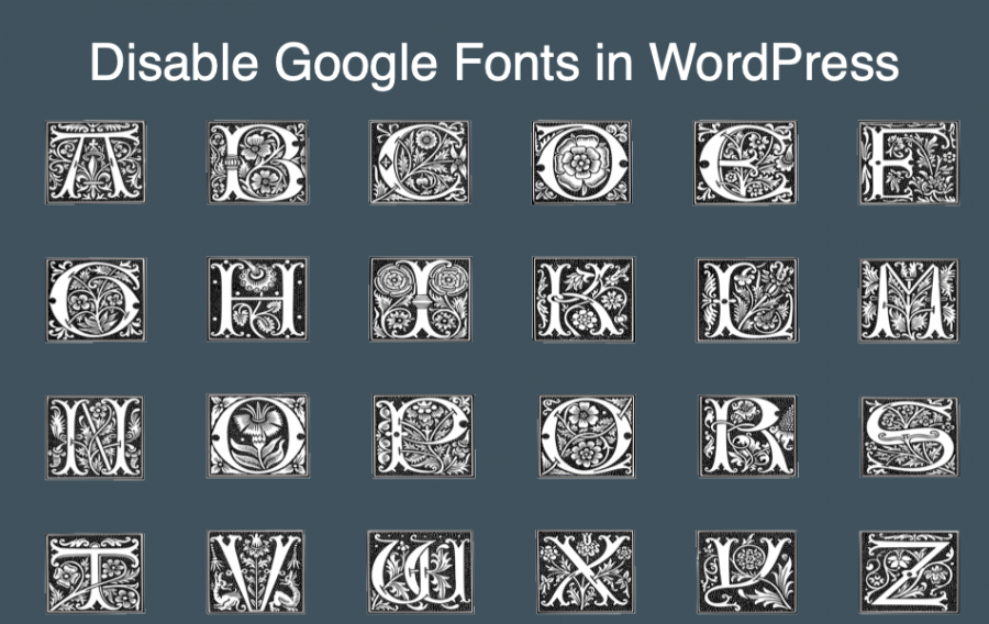 Disable Google Fonts in WordPress