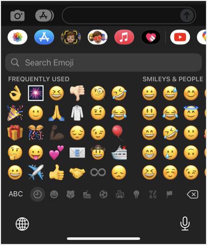 Emoji in iPhone
