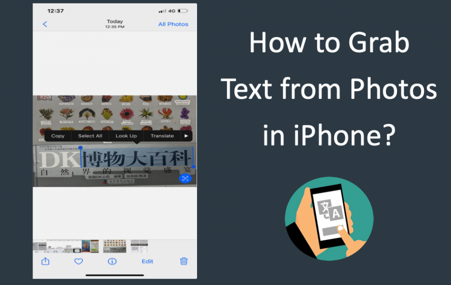 How to Grab Text from Photos in iPhone?