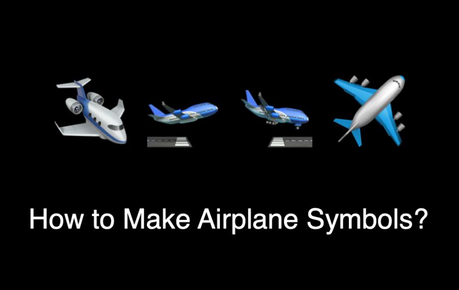 How to Make Airplane Symbols?