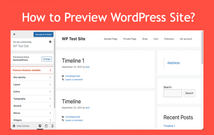 How to Preview WordPress Site?