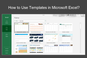 How to Use Templates in Microsoft Excel?