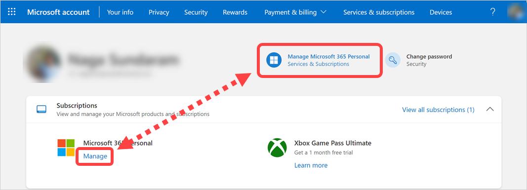 Manage Microsoft 365 Subscription