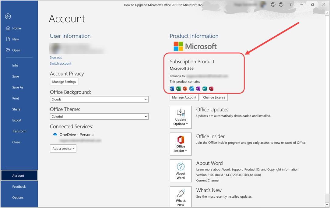 Microsoft 365 Version