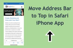 Move Address Bar to Top in Safari iPhone App