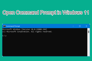 Open Command Prompt in Windows 11