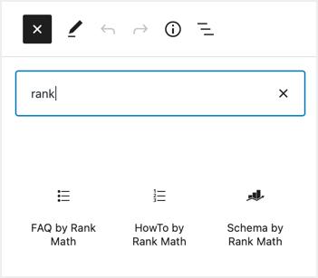 Rank Math Gutenberg Blocks