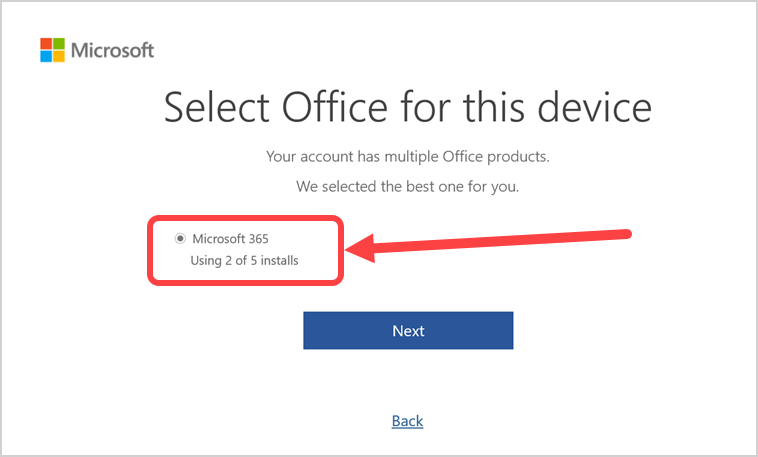 Select Upgrade Option