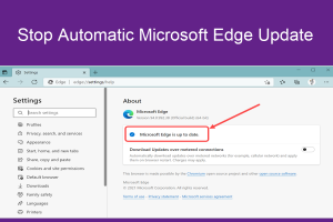 Stop Automatic Microsoft Edge Update