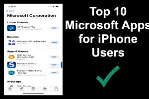 Top 10 Microsoft Apps for iPhone Users