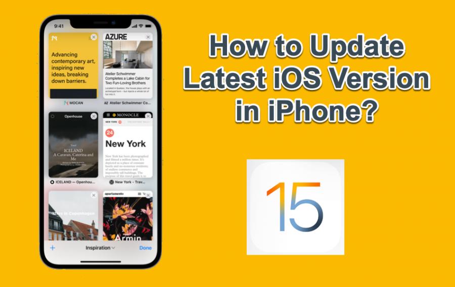 Update Latest iOS Version in iPhone