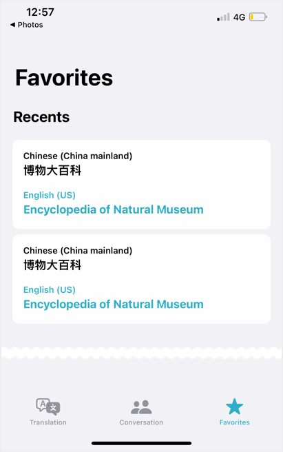 View Translation in Translate App