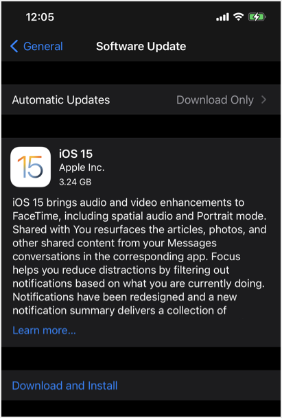 iOS Version Details